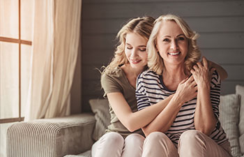 Mom Daughter Embrace