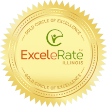 EXCELERATE ILLINOIS  GOLD CIRCLE OF QUALITY DESIGNATION